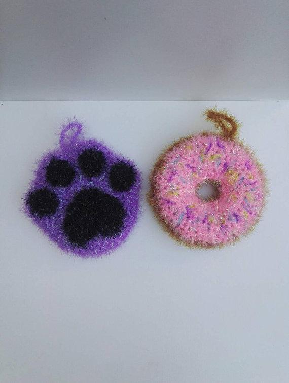 tawashi créative bubble crochet éponge vaisselle